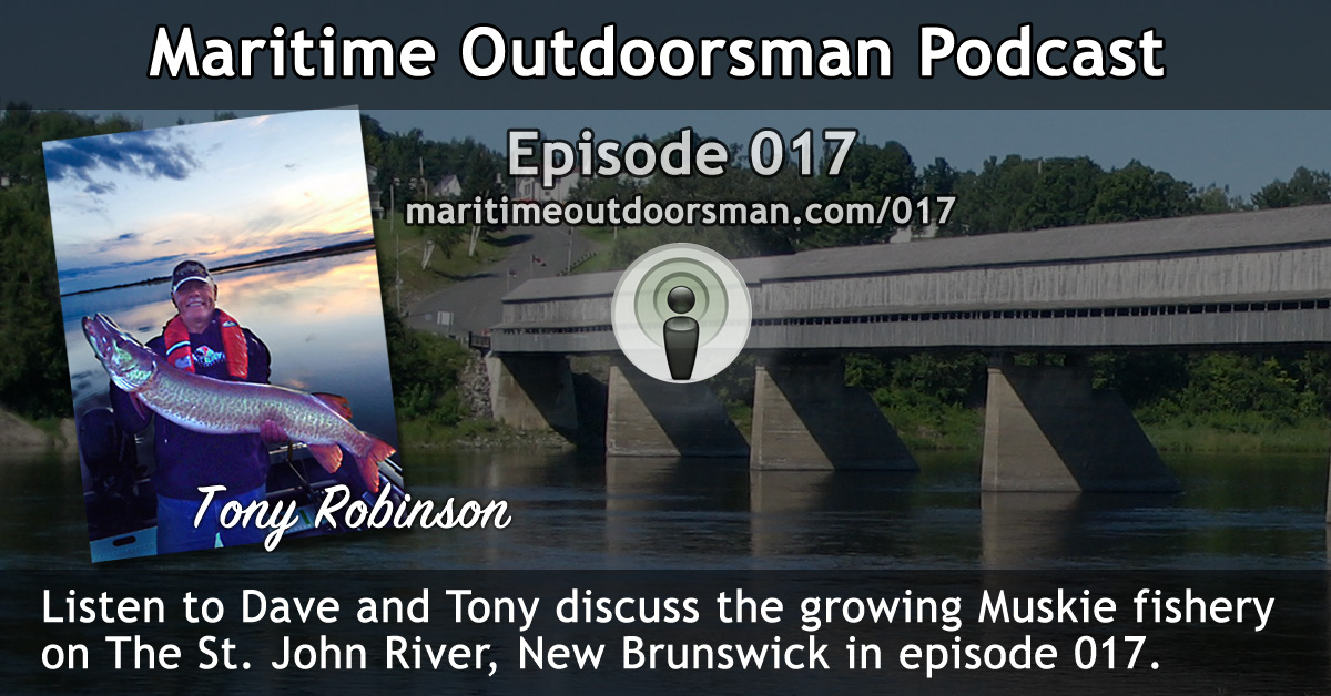 Dave talks with Tony Robinson about NB Muskie Fishing